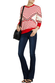 See by Chloé Striped stretch-cotton jersey sweatshirt