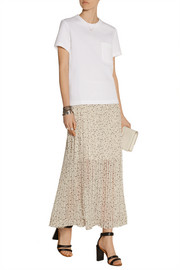 See by Chloé Printed fil coupé chiffon maxi skirt