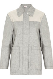 See by Chloé Cady-paneled woven coat