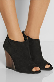 Burberry Prorsum Suede wedge boots