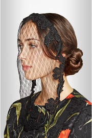 Dolce & Gabbana Satin-twill and lace veil