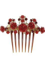 Swarovski crystal-embellished hair comb
