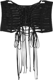 Grosgrain and satin corset belt