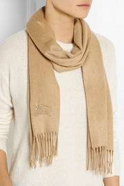 Burberry Shoes & Accessories Brushed-cashmere scarf