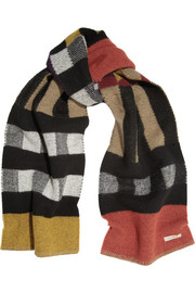 Burberry Shoes & Accessories Checked wool and cashmere-blend scarf