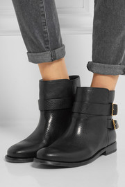 Burberry Shoes & Accessories Buckled leather ankle boots