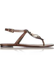 Burberry Shoes & Accessories Embellished leather sandals