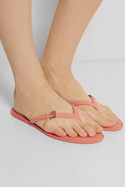 Burberry Shoes & Accessories Textured-rubber flip flops
