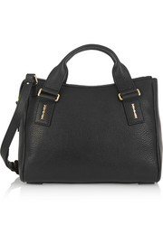 Cleo small textured-leather shoulder bag