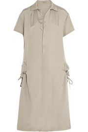 Satin-twill shirt dress