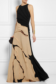Bottega Veneta Printed georgette gown