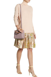 Bottega Veneta Pleated metallic jacquard mini skirt