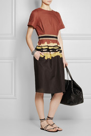 Bottega Veneta Printed cotton-twill dress