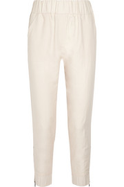 Ramie and cotton-blend tapered pants