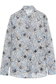 Bottega Veneta Printed silk-blend shirt
