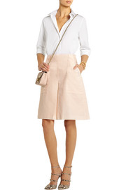 Ramie and cotton-blend culottes
