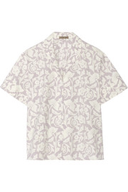 Printed washed cotton-poplin shirt