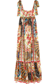 Dolce & Gabbana Printed silk-chiffon maxi dress