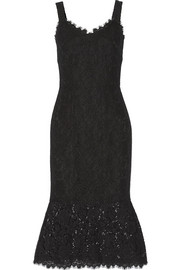 Fluted lace dress