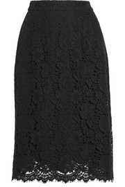 Dolce & Gabbana Cotton-blend lace skirt