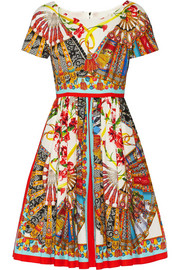Dolce & Gabbana Printed cotton dress