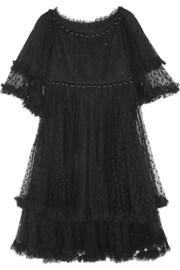 Tiered point d'esprit dress