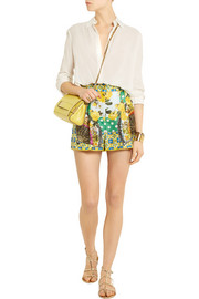 Dolce & Gabbana Printed silk-satin shorts