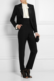 Dolce & Gabbana High-waisted stretch-wool tapered pants