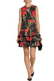 Dolce & Gabbana Floral-print cotton mini dress