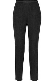 Cotton-blend jacquard tapered pants