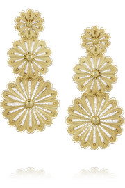 Finds + Joyas Fio gold-plated filigree earrings