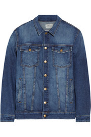 Current/Elliott The Trucker oversized stretch-denim jacket