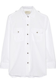 Current/Elliott The Perfect cotton-voile shirt