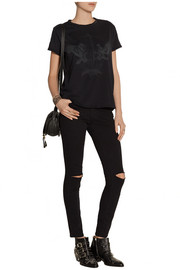 Current/Elliott The Sophomore printed cotton-jersey T-shirt