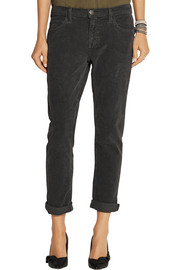 Current/Elliott The Fling mid-rise corduroy slim boyfriend jeans