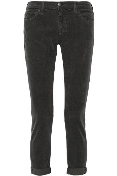 premium selection good looking shop for authentic The Fling mid-rise corduroy slim boyfriend jeans