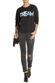 Current/Elliott The Shrunken Jogger printed cotton sweatshirt