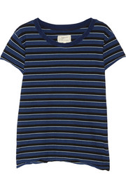 The Crew Neck striped cotton-jersey T-shirt
