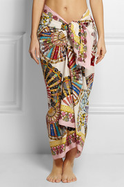 Dolce & Gabbana Printed cotton-voile pareo