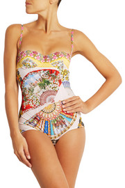 Dolce & Gabbana Printed underwired swimsuit