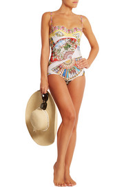 Printed underwired swimsuit