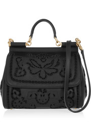 Dolce & Gabbana Sicily medium cutout leather tote