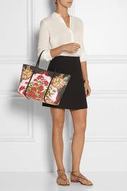 Dolce & Gabbana Escape medium printed textured-leather tote