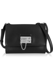 Monica medium textured-leather shoulder bag