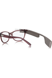 DVF MADE FOR GLASS Plum frames with bronze shades