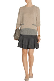 Chinti and Parker Two-tone cashmere sweater