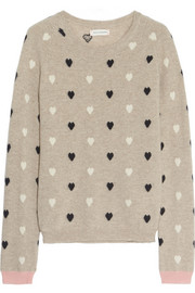 Heart-intarsia cashmere sweater