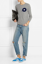 Chinti and Parker Speech Bubble-intarsia wool and cashmere-blend sweater