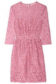 Moschino Cheap and Chic Cotton-blend lace dress