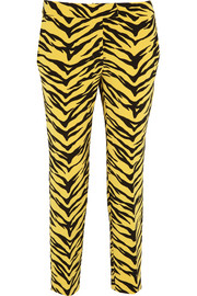 Moschino Cheap and Chic Animal-print crepe straight-leg pants
